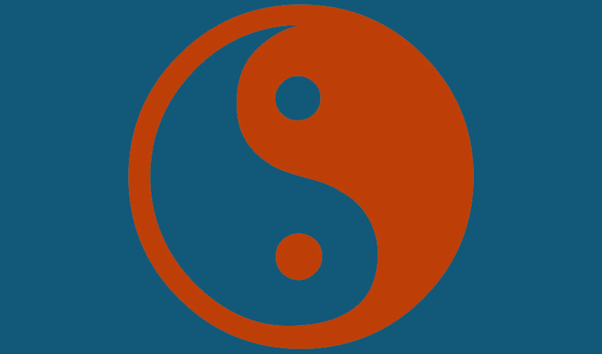 yin-yan HOMBRE MENTE; MUJER CORAZÓN  O VICEVERSA
